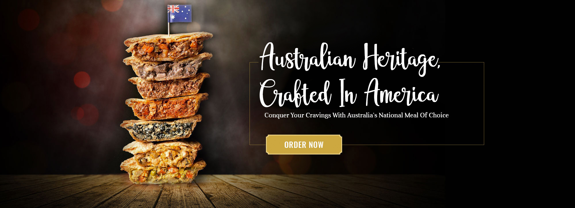 Discover the Taste of Our Award-Winning, Delicious and Authentic Aussie Meat Pies!